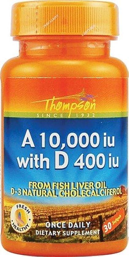 くぼみカート大学海外直送品 Thompson Nutritional Products Vitamin A & D Fish Liver Oil, FISH LIVER OIL, 30 SGEL