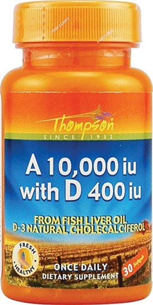 水分失われた蚊海外直送品 Thompson Nutritional Products Vitamin A & D Fish Liver Oil, FISH LIVER OIL, 30 SGEL