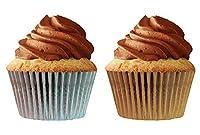カップケーキCreationsカップケーキペーパー、32-count、シルバー、ゴールド、2- Pack