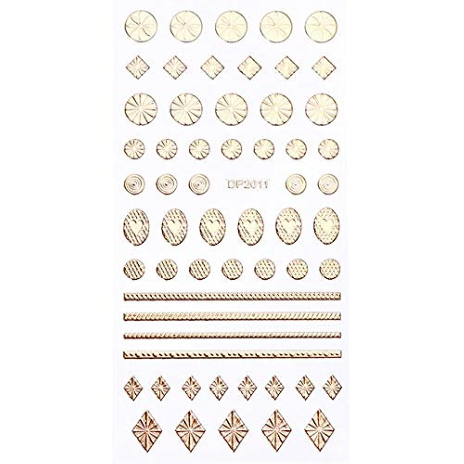 テクスチャーモールスツールSUKTI&XIAO ネイルステッカー 1ピースゴールド3dネイルステッカーデコレーション金属ジオメトリハートスター接着剤のヒント爪デカールマニキュアツール