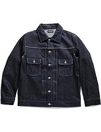 【Z16AA01】 ゼファレン Zephyren アウター デニムジャケット 長袖 かっこいい バンダナ 刺繍 加工 アメカジ 正規品 インディゴダークブルー