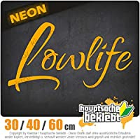 Lowlife - 3つのサイズで利用できます 15色 - ネオン+クロム! ステッカービニールオートバイ