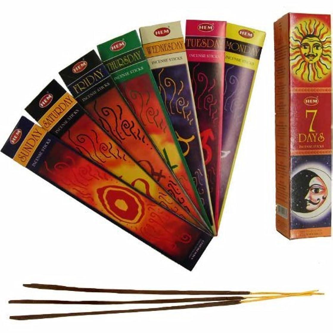 触覚それに応じて救援7 Dias Incense Sticks