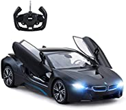 RASTAR Remote Control Car, 1:14 BMW i8 Radio Remote Control Racing RC Toy Car Model Vehicle, Open Doors by RC,