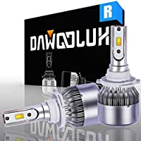 DAWOOLUX 9005/HB3 LED Headlight Bulbs Conversion Flip Chips/Internal Driver-Dual All-in-one Extremely Bright 6000K Cool White 7600 Lumens 72W, 2-Years Warranty [並行輸入品]
