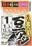 ささめ針(SASAME) ちょい太豆アジ ピンクベイト S-107 針1号 ハリス1号