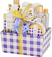 Spa Luxetique Bath Spa Gift Basket, Home Spa Gift Baskets for Women.