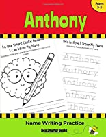 Anthony Name Writing Practice: Personalized Name Writing Activities for Pre-schoolers to Kindergarteners