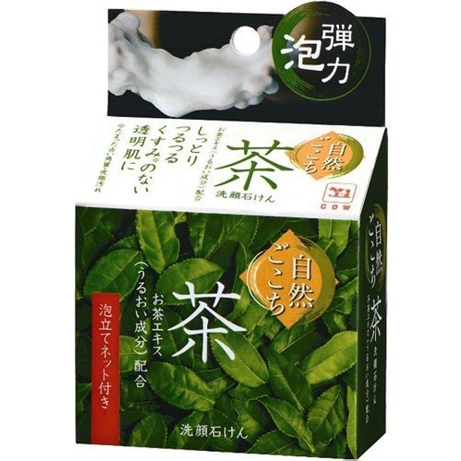 ヒステリックコミュニティ煙自然ごこち 茶 洗顔石けん 80g x 5個セット