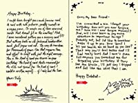 Quiplip Handwritten Yours Truly Birthday Cards 6-Pack (YT01076PCK) [並行輸入品]