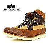 ALPHA INDUSTRIES (アルファ インダストリーズ) 【SALE】ブーツ (本革を使用したこだわりのグッドイヤー製法 メンズ アウトドアブーツ)【ブラウン/ベージュ/26.5cm】