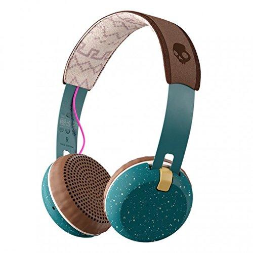Skullcandy スカルキャンディー GRIND Wireless Bluetoothヘッドホン グラインド (Pine/Mustard/Pink ) S5GBW-J552 [並行輸入品]