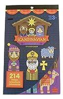 Darice Sticker Book ~ Christmas Edition (Scandinavian Nativity; 214 Stickers) [並行輸入品]