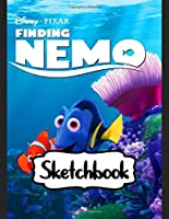 """Sketchbook: Finding Dory Cheerful Clownfish Funny Dory, Nemo, Hank, Destiny and Friends Swimming Adventure Ocean Life, Blank Pages for Drawing and Creative Doodling: 110 Pages, 8.5"""" x 11"""". Kraft Cover Sketchbook ( Blank Paper Drawing and Write Journal )"""