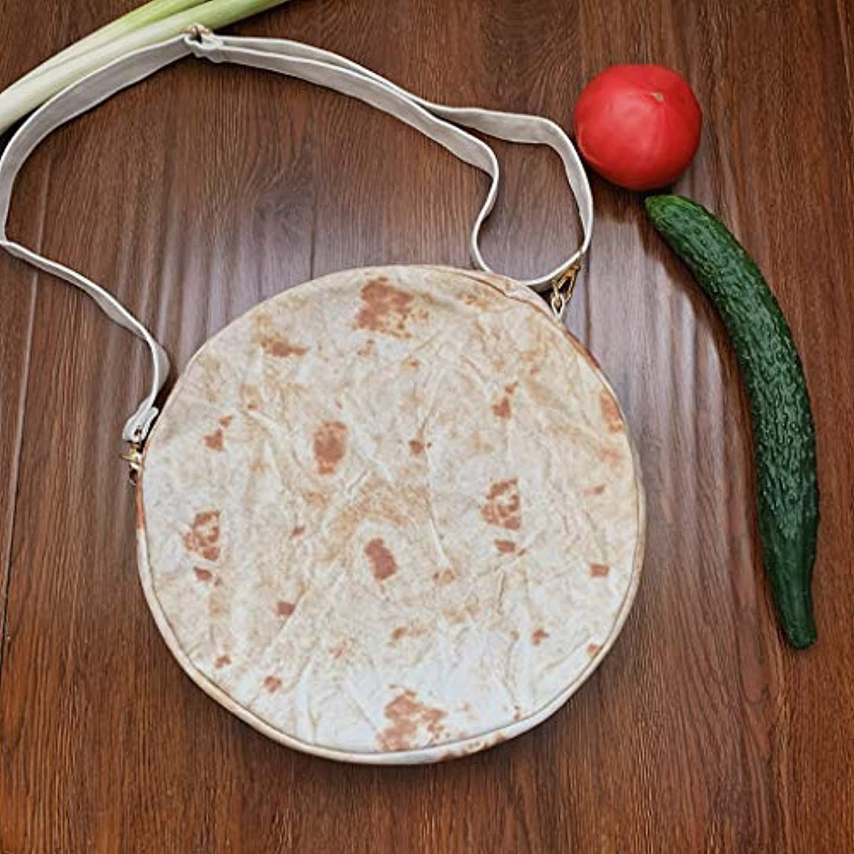 債権者無限言い聞かせるファッション女性キャンバスメキシコの肉ロールショルダーメッセンジャーバッグ小さなラウンドバッグ、女性ブリトージッパーメッセンジャーバッグショルダーバッグノベルティファッションラウンドパック (B)
