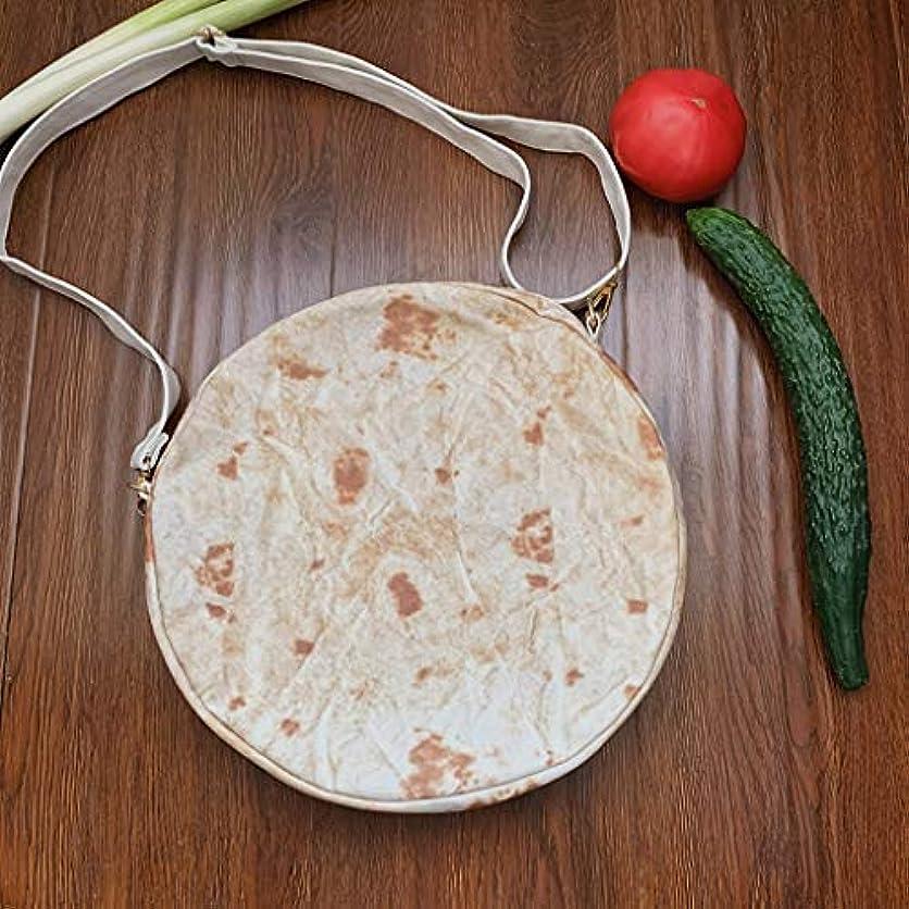 ロマンチックとんでもない最高ファッション女性キャンバスメキシコの肉ロールショルダーメッセンジャーバッグ小さなラウンドバッグ、女性ブリトージッパーメッセンジャーバッグショルダーバッグノベルティファッションラウンドパック (B)