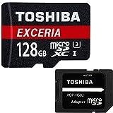 東芝 Toshiba 超高速U3 4K対応 microSDXC 128GB 専用SDアダプ付 海外向パッケージ品 [並行輸入品]