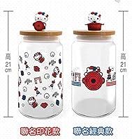 NEW!! 台湾 LE creuset  ルクルーゼ FOR HELLO KITTYハローキティ  正規品 ガラス瓶/お菓子  ケース 2点 (元箱付き)