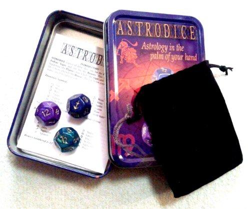 ASTRODICE アストロダイス ダイス占星術占い サイコロ3個セット ポーチ付き