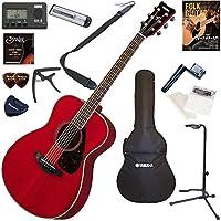 YAMAHA アコースティックギター 初心者 入門 フォークタイプ お手軽13点セット FS820/RR(ルビーレッド)