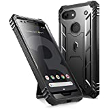 Google Pixel 3 Rugged Case, Poetic Revolution [360 Degree Protection]Full-Body Rugged Heavy Duty Case with [Built-in-Screen Protector] for Google Pixel 3 Black