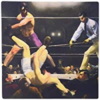 3dRose LLC 8 x 8 x 0.25 Vintage Art Dempsey and Firpo Boxing Match 1924 by Artist George Bellows Mouse Pad (mp_79452_1) [並行輸入品]