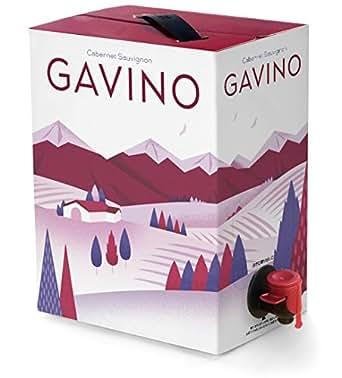 【Amazon.co.jp限定】ガヴィーノ チリ産カベルネソーヴィニヨン 箱入りワイン(バッグインボックス)3000ml [チリ/赤ワイン/ミディアムボディ]