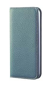 BONAVENTURA ボナベンチュラ iPhone5s/5 本革レザー アイフォンケース 手帳型 アクアブルー
