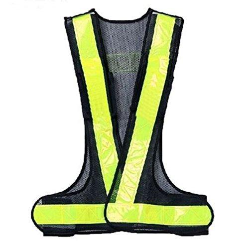 [해외]SODIAL (R) 하이 비즈 리플 렉 티브 최고의 가시성 높은 경고 트래픽 구축 안전 장치 검정 노랑/SODIAL (R) High Biz Reflective Best High Visibility Traffic Construction Safety Device Black Yellow