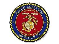 ラウンドQuantico , VAシールステッカー( USMC海兵隊ベースデカール)