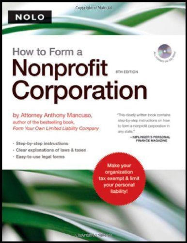 Download How to Form a Nonprofit Corporation (HOW TO FORM YOUR OWN NONPROFIT CORPORATION) 1413306470