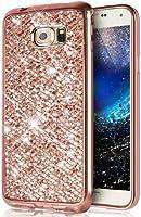 Galaxy s7Edgeケース, [ Glitter TPUケース] ikasus超薄型scratch-resistant Shiny Sparkle Bling Glitterハンドクラフト電気めっきソフトTPUシリコンゴム製保護ケースカバーfor Galaxy s7Edge、