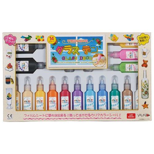 ヤマト グラスデコ 14色セット GDS14 1セット(14色)