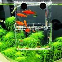 EFORCAR 1PCS 多機能 魚 繁殖隔離ボックス 水槽 孵化 産卵箱 水族館アクセサリー (S)