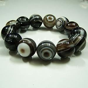 最高級 天眼石ブレスレット 16mm珠 (チベットメノウ)
