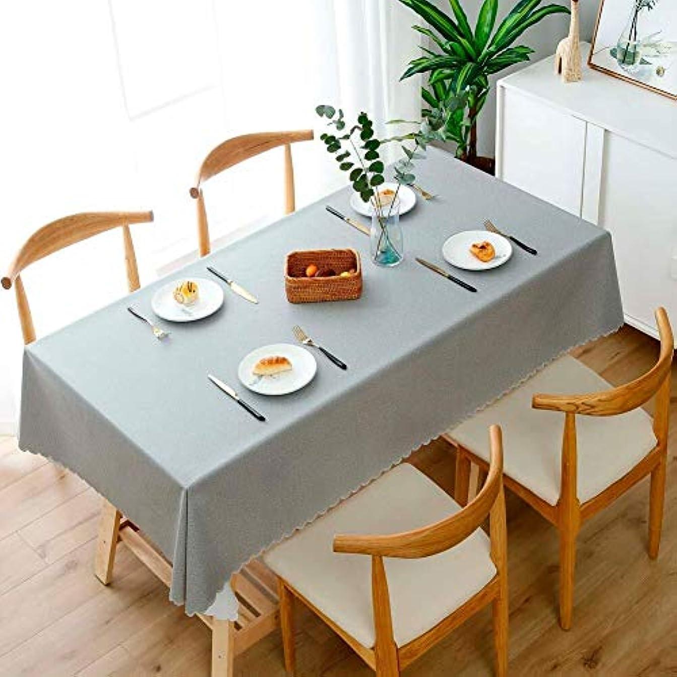 支援する恥アベニュークリスマス テーブル クロス テーブルクロスワイプクリーンテーブルクロス長方形テーブルクロス防水?防油テーブルカバー熱や耐湿性多目的屋内と屋外 (Color : Light Gray, Size : 120×160cm)