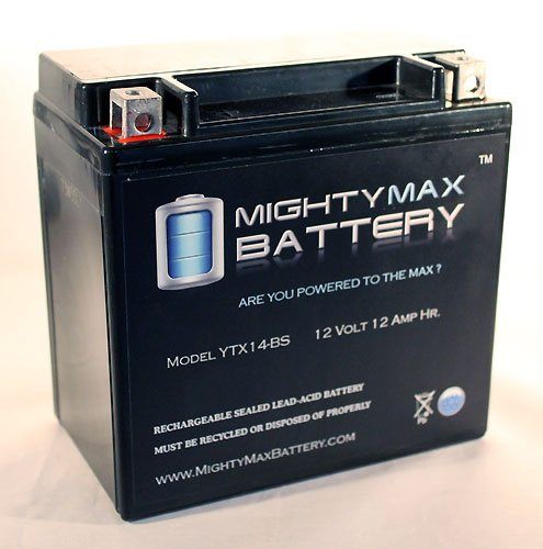ytx14-bs交換バッテリーfor Buell s1 Lightning ( 1996 – 1999 ) – Mighty Maxバッテリーブランド製品