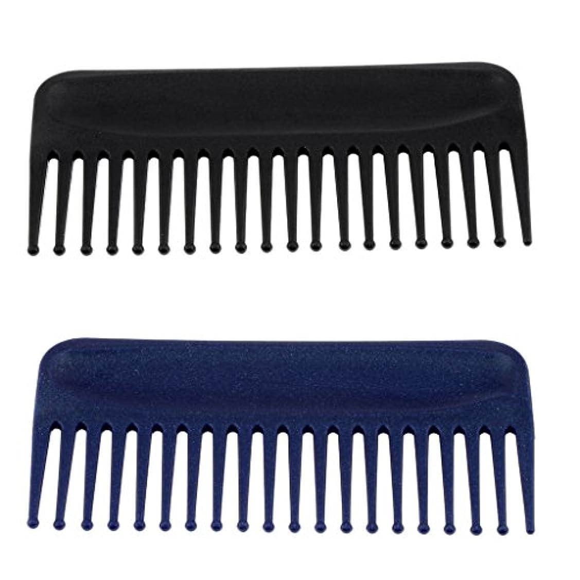 横向き渦市区町村Toygogo 2x広い歯の櫛、帯電防止の耐熱性、もつれのくし、長いぬれた髪の毛のためのデタングラーの毛の櫛は巻き毛をまっすぐにします