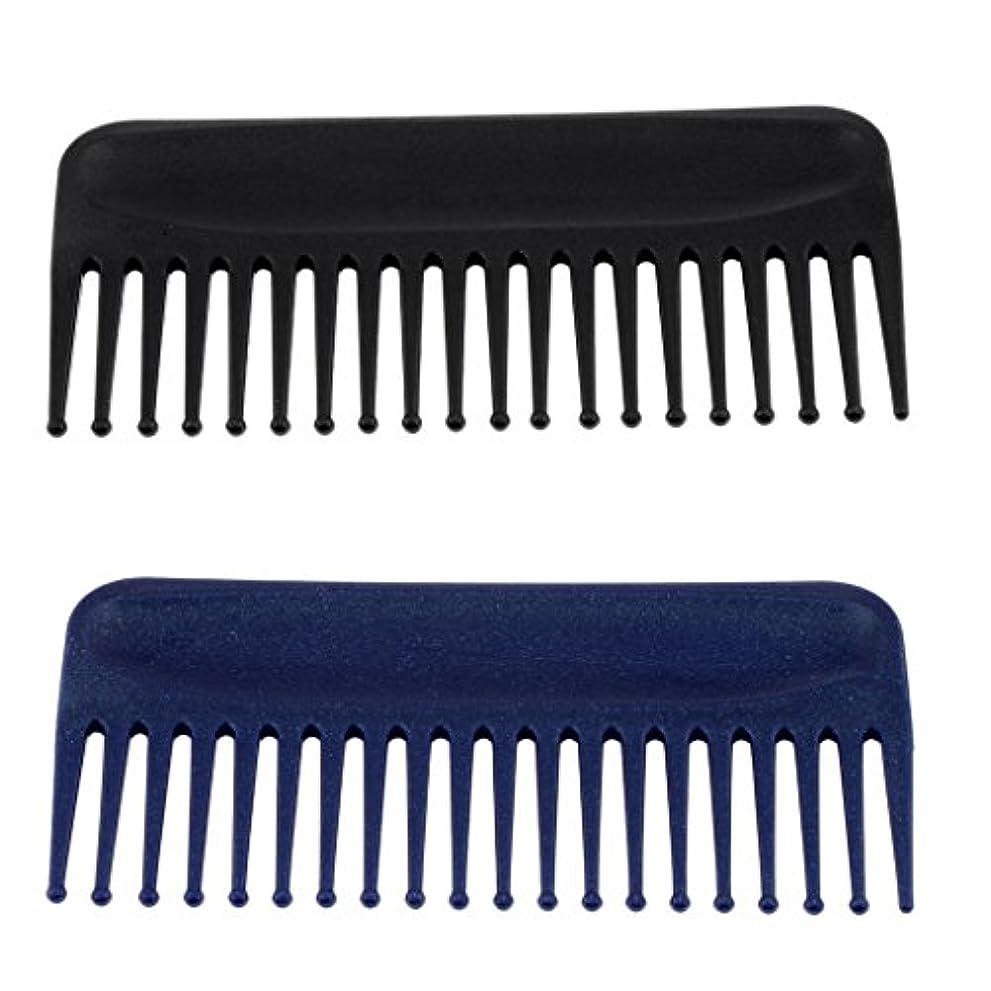 カポック揺れる灰Toygogo 2x広い歯の櫛、帯電防止の耐熱性、もつれのくし、長いぬれた髪の毛のためのデタングラーの毛の櫛は巻き毛をまっすぐにします