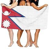 ビーチバスタオル バスタオル ネパール国旗 風呂 海水浴 旅行用タオル 多用途 おしゃれ One Size White