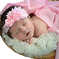 miugleベビーレースヘッドバンドヘアリボンターバンヘッドラップ乳児幼児女の子ヘアバンド