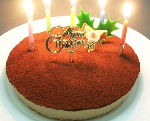 誕生日ケーキ 糖質75%カット 低糖質 生チョコレア チーズケーキ 5号(ローソク・誕生日プレート・柊ピック・カード付)(糖質制限 チョコレートケーキ 砂糖不使用 スイーツ ギフト)