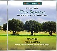Telemann: Trio Sonatas for Recorder, Violin, and Continuo by Cavasanti (2013-10-29)