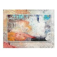 LPD カーペット ラグ・カーペット抽象アートエリアラグカーペットコーヒーテーブルパッド用リビングルーム寝室の水分吸収滑り止め4色 (色 : C, サイズ さいず : 160x230cm)