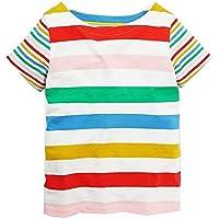 ストライプTシャツ キッズ 半袖 クルーネック スポーツ ダンス衣装 ジュニア ボーダーTシャツ