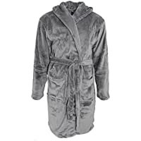 Pierre Roche Mens Luxury Soft Touch Hooded Dressing Gown