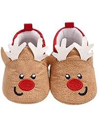 Zhaozheベビーシューズ 赤ちゃん靴 トナカイ ユニセックス 歩行練習 履き心地いい 記念日 妊娠 出産お祝いプレゼント