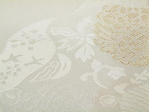礼装用 正絹 手組紐 織細金銀糸使用 帯締め 縫取り 帯揚げ 金銀扇子 亀 4点セット 留袖用 桐箱入り (波花(t-12))