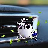 車用芳香剤 フクロウ芳香剤 車用 イージークリップ スカイブリーズ ダイヤモンドの車の香水カーエアコンベントクリップ車のアロマセラピーの美しい装飾品