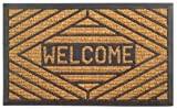 Imports Decor Rubber Back Coir Doormat, Welcome, 18-Inch by 30-Inch 玄関 マット
